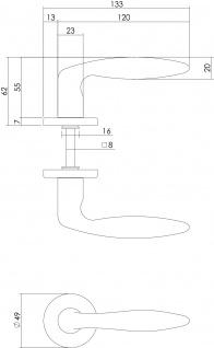 Intersteel Türklinke Sigaar auf Rosette mattschwarzes Titan PVD - Vorschau 2