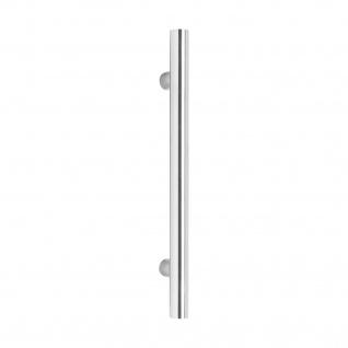 Intersteel Stoßgriff T-Form 1200 x 25 x 70 mm gebürsteter Edelstahl