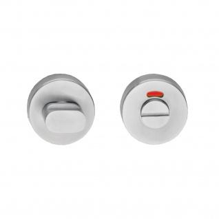 Intersteel Rosette rund 55 mm mit Toiletten-/Badezimmerverriegelung 8 mm Edelstahl gebürstet