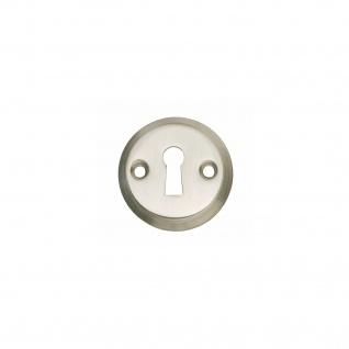 Intersteel Rosette rund mit Schlüsselloch und Schraublöchern Nickel matt