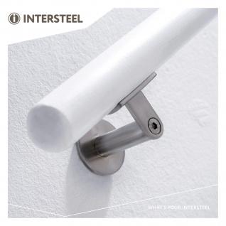 Intersteel Handlaufhalter schwer runde Auflage gebürsteter Edelstahl - Vorschau 3