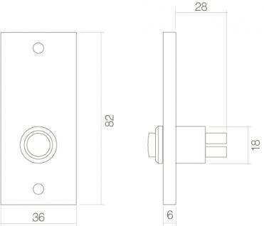 Intersteel Türklingel rechteckig Nickel matt - Vorschau 2
