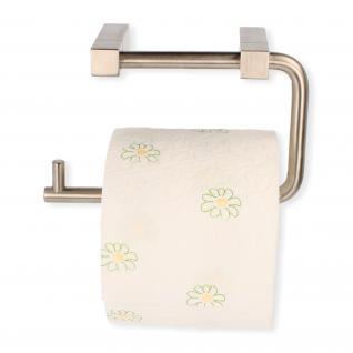 Toilettenpapierhalter Rollenhalter Klopapierrollenhalter aus massivem Edelstahl - Vorschau 1