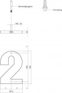 Intersteel Hausnummer 2 mattschwarzes Titan PVD - Vorschau 2