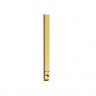 Intersteel Stangenset Tür-Stangenschloss 2 x 125 cm Messing unlackiert