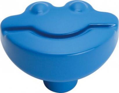 Möbelknopf Möbelgriff Kinderzimmer Modell Happy Frogs Kunststoff Blau
