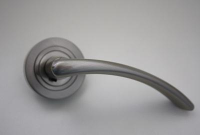 Türdrücker Türklinke Drückergarnitur aus Metall - Edelstahloptik, Buntbart, 10 Paare
