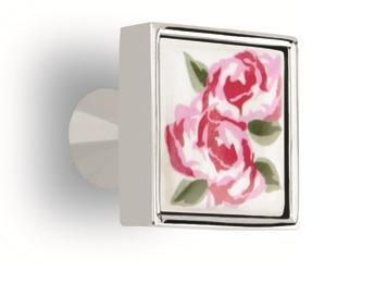 Möbelknopf Möbelgriff Modell Rose Porzellan