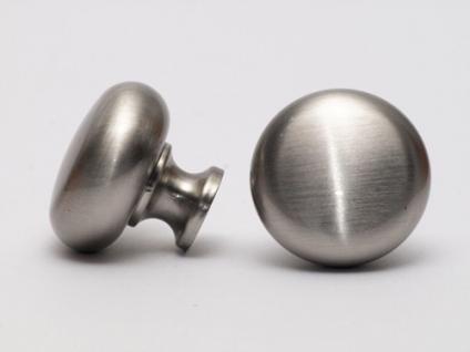 Möbelknopf Möbelgriff Schubladengriff - Edelstahl Optik - Höhe 27 mm