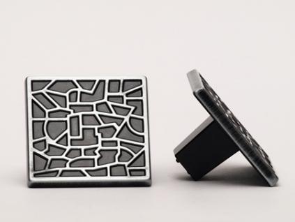 Möbelknopf Möbelgriff Schrankgriff Schubladengriff aus Metall - schwarz patiniert