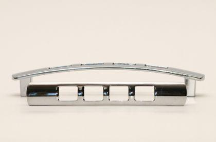 Möbelgriff Schubladengriff Schrankgriff - Chrom glänzend, Lochabstand - 128mm