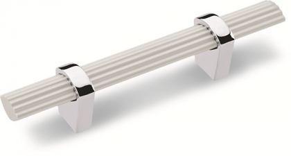 Möbelgriff Küchengriff Schrankgriff aus Metall - Chrom, Lochabstand - 128 mm