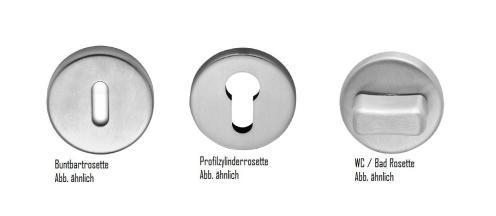 Türdrücker Türklinke Türbeschlag Edelstahl matt gebürstet - poliert Buntbart - Rosette - Vorschau 2