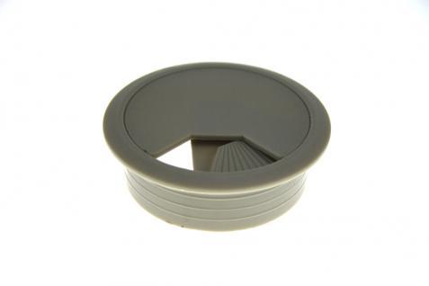 Kunststoff Kabeldurchlass Kabeldurchführung Kabelführung Kabeldose Grau ø 80mm