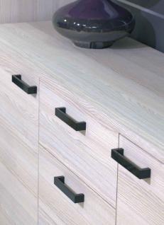 Möbelgriff Schubladengriff Küchengriff aus Metall in Schwarz LA 128mm
