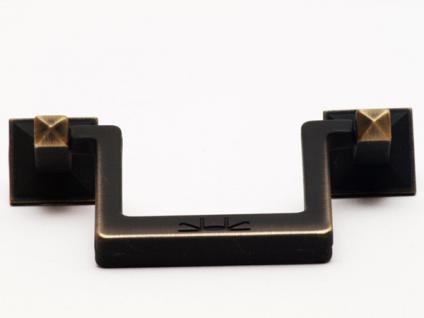 Möbelgriff Schubladengriff Schrankgriff aus Metall Lochabstand 64 mm Messing schwarz vernickelt
