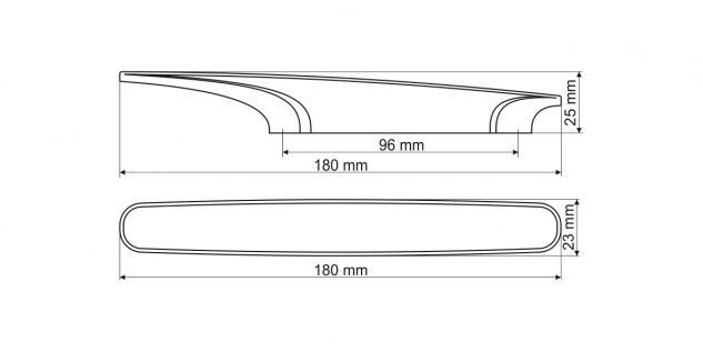 Möbelgriff Küchegriff Mod Chamäleon Grün Sockel chrom Lochabstand 96mm - Vorschau 2