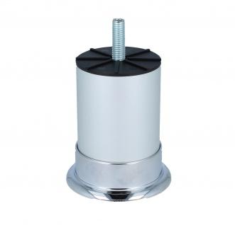 Möbelfuss Sofafuss Sesselfuss mit M8 Gewindestift Höhe 80mm in Chrom- Chrom matt - Vorschau 3