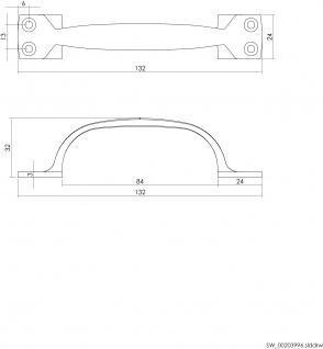 Intersteel Möbelgriff 130 mm Nickel matt - Vorschau 2
