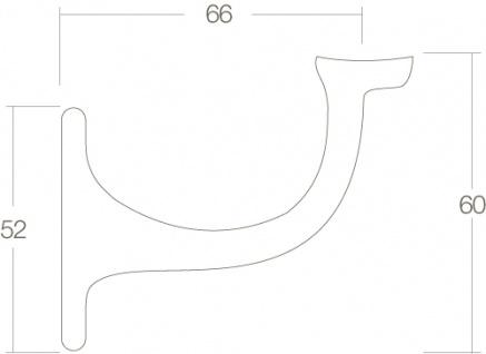 Intersteel Handlaufhalter gerade Auflage Stockschraube Messing lackiert - Vorschau 2