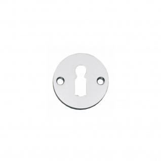 Intersteel Rosette rund und flach mit Schlüsselloch Chrom