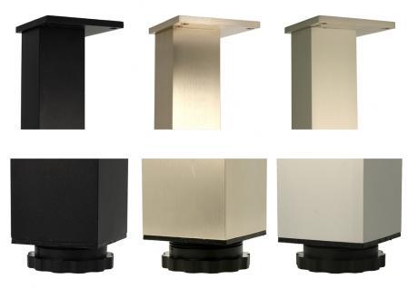 Tischbein Bistrofuss Stehtischfuss 60mm x 60mm in 1100mm Höhe verschiedene Farben