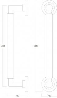 Intersteel Stoßgriff Bau Stil 300 mm Bohrgröße 250 mm Altgrau - Vorschau 2