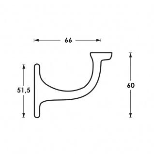 Intersteel Handlaufhalter gerade Auflage mit Schraublöchern Chrom - Vorschau 2