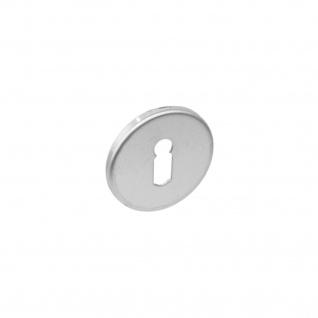 Intersteel Rosette rund flach verdeckt mit Schlüsselloch Edelstahl gebürstet