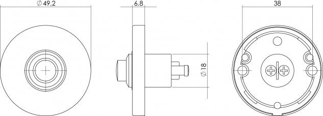 Intersteel Türklingel Rund Messing lackiert - Vorschau 2