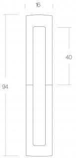 Intersteel Zierhülse 40/40 mm Messing lackiert - Vorschau 2