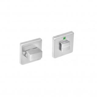 Intersteel Rosette quadratisch mit Toiletten-/Badezimmerverriegelung Edelstahl gebürstet 8 mm