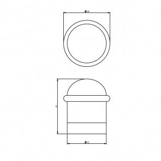 Intersteel Türstopper mit Ring Nickel matt - Vorschau 2