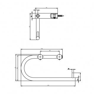 Intersteel WC-Rollenhalter gebürsteter Edelstahl - Vorschau 2