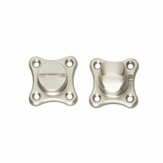 Intersteel Rosette mit Toiletten-/Badezimmerverriegelung Kleeblatt Nickel matt