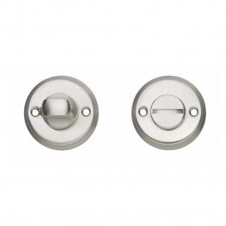 Intersteel Rosette mit Toiletten-/Badezimmerverriegelung und Schraublöchern Nickel matt