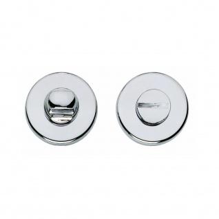 Intersteel Rosette Toiletten-/Badezimmerverriegelung rund verdeckt Kunststoff Chrom 8 mm