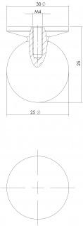 Intersteel Möbelknauf ø 25 mm Messing lackiert - Vorschau 2