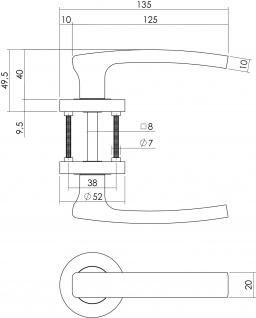 Intersteel Türklinke Blok PZ-Schutzrosette Chrom - Vorschau 2