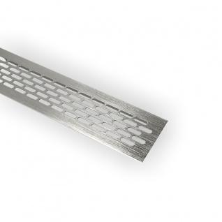 Aluminium Lüftungsgitter 60x245mm Stegblech Lüftungsblech Lüftung Heizungsgitter