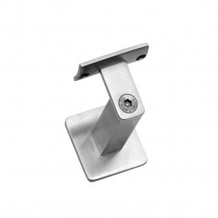 Intersteel Handlaufhalter gerade Auflage mit Stockschraube Eckig gebürsteter Edelstahl