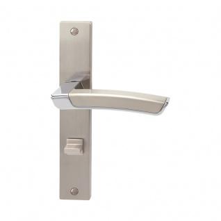 Türklinke auf Schild Calla-LS Türklinke auf Schild, Zamak verchromt/Edelstahleffekt, WC, rechts DIN