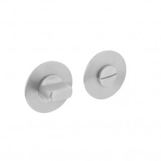 Intersteel Magnetrosette rund mit Toiletten-/Badezimmerverriegelung Edelstahl gebürstet