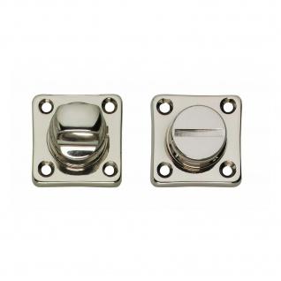 Intersteel Rosette mit Toiletten-/Badezimmerverriegelung quadratisch Nickel