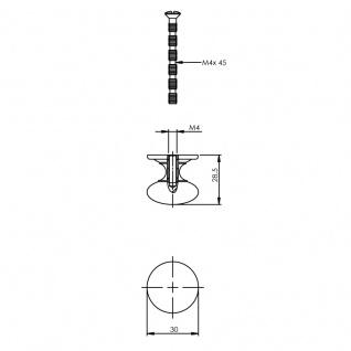 Intersteel Möbelknauf Pilz ø 30 mm Chrom - Vorschau 2