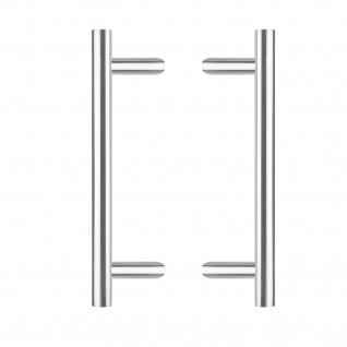 Intersteel Türgriffe Set T-schräg ø 30 mm - 500 mm gebürsteter Edelstahl