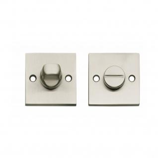 Intersteel Rosette mit Toiletten-/Badezimmerverriegelung quadratisch groß Nickel matt