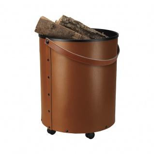 Rumba, Farbe Cognac Leder regeneriert, H 50, 5 cm, Ø 39, 5 cm, 3, 5 kg