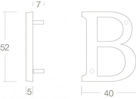 Intersteel Hausbuchstabe B Chrom - Vorschau 2