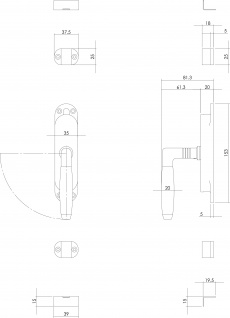 Intersteel Fenster-Stangenschloss Ton 400 links Nickel/Ebenholz - Vorschau 2